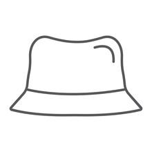 Panama Hat Thin Line Icon, Clo...