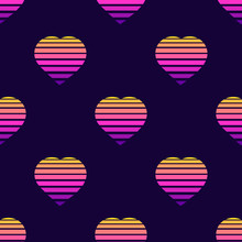 Seamless Pattern With Heart Sy...