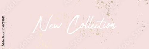 Fotografía  trendy blush pink gold feminine pastel texture background