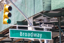 Broadway Street Sign In New Yo...