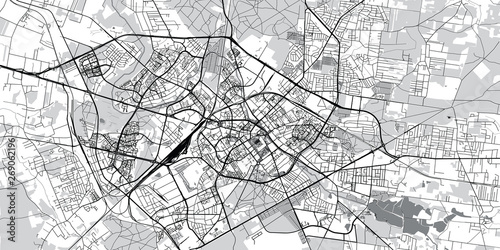Fototapeta Urban vector city map of Bialystok, Poland