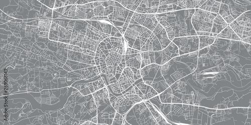 Fotomural  Urban vector city map of Krakow, Poland