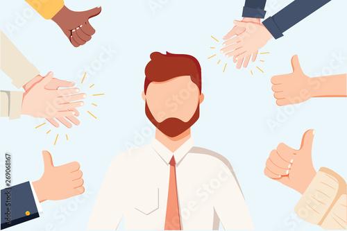 Fotografia  Human hands clapping