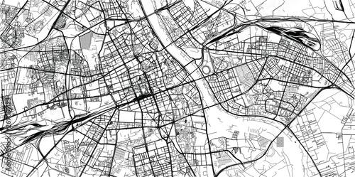 Mapa miasta miejski wektor Warszawa, Polska
