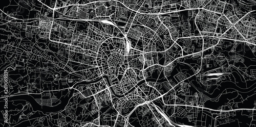 Fototapeta Urban vector city map of Krakow, Poland obraz
