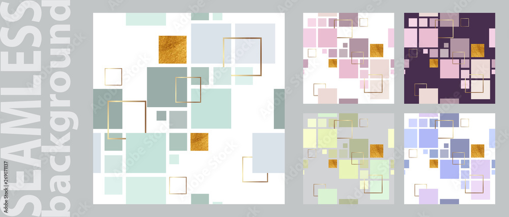 Fototapeta Trendy vector seamless colorful pattern with geometric. Design backgrounds for wallpaper, cover.  Vector illustration