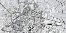Urban Vector City Map Of Lublin, Poland