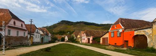 Panorama of village of Transylvania Obraz na płótnie