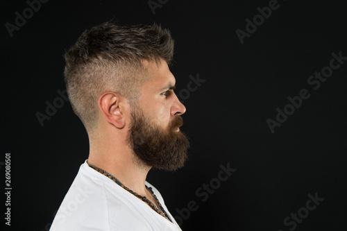 Valokuva Man handsome hipster stylish beard and mustache