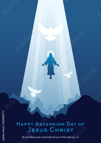 Obraz na plátne Happy Ascension Day of Jesus Christ