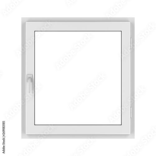 fototapeta na szkło PVC window isolated on white