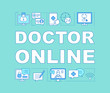 Doctor online word concepts banner