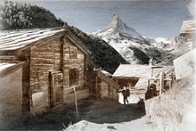 Old Photo Of Alpine Village