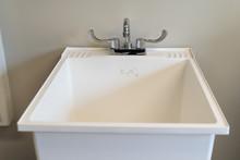 White Plastic Laundry Sink, Tu...