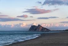 View Of Gibraltar After Beautiful Sunset