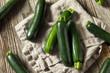 canvas print picture - Raw Green Organic Zucchini