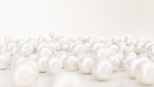 Pile Of Pearls. Background Of ...