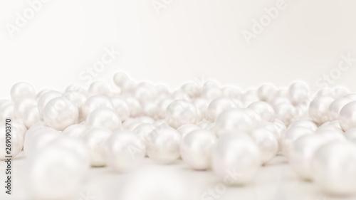 Obraz na plátne Pile of pearls