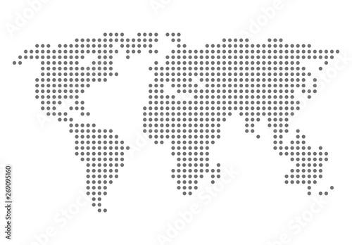Türaufkleber Weltkarte World map simple illustration. Vector