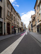 Nancy - Beautiful street in Nancy with paintings on the floor - France