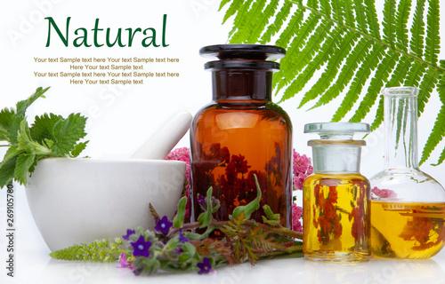 Photo Natural medicine BACH - herbs  therapy.