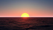 Sea Sunset background 3D Rendering
