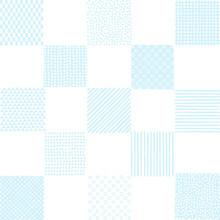 夏背景 いろいろパターンの市松模様