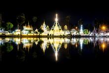 Wat Chong Klang And Wat Chong Kham At Dusk