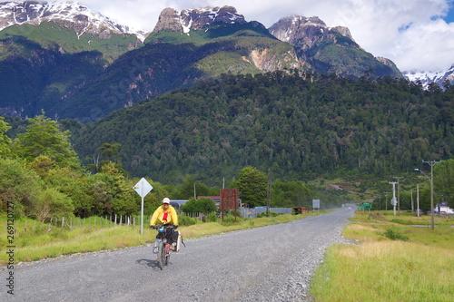 Fototapety, obrazy: biketrip patagonia argentina chile