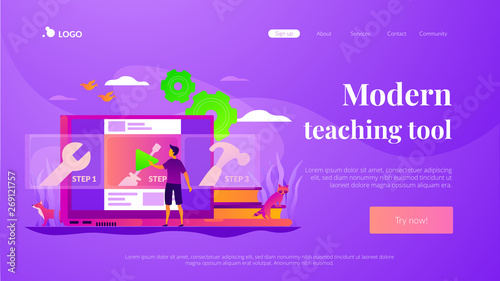 Education video, modern teaching tool, interactive learning