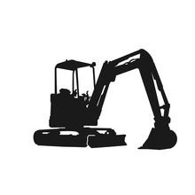 Simple Excavator Silhouette De...