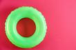 Leinwandbild Motiv Inflatable ring on color background