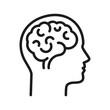 Ludzki mózg logo wektor