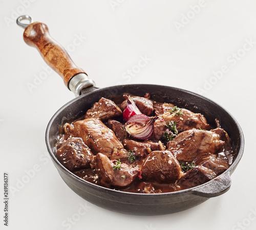 Fotografía Venison hotpot or goulash with wild boar
