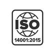 Leinwanddruck Bild - ISO 14001:2015 certified symbol