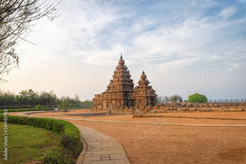 The Shore Temple, Mahabalipuram, Tamilnadu, India. Tapéta, Fotótapéta