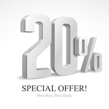 20 Off Special Offer Silver 3D...