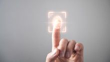 Biometric Identification Concept With Fingerprints.
