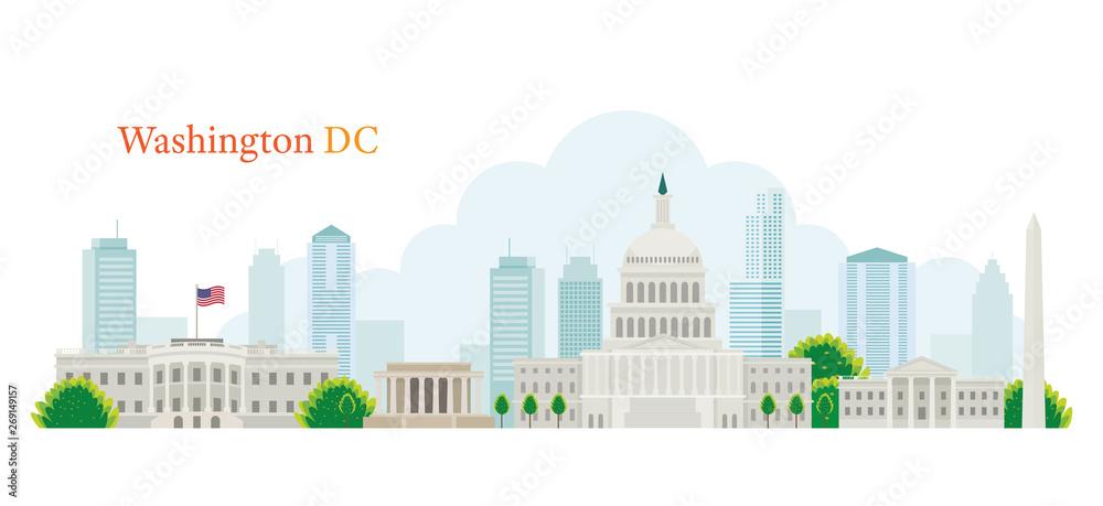 Fototapeta Washington DC, Landmarks, Skyline and Skyscraper