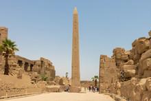 Luxor, Egypt - April 16, 2019: Thutmose I Obelisk In Amun Temple, Karnak, Luxor