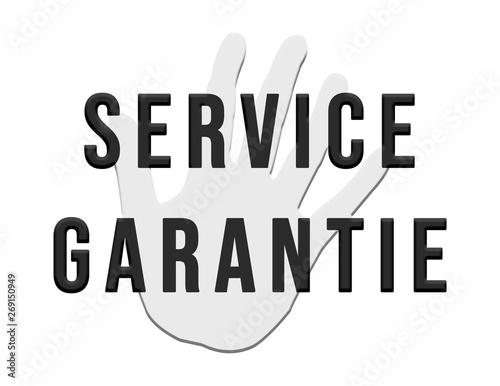 Service Garantie Hand web Button Canvas Print