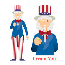 Uncle Sam Want You With Hand P...