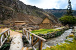 canvas print picture Ancient huge stony Ollantaytambo constructions and bastille