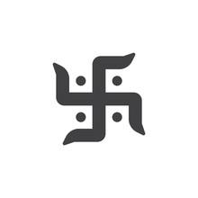 Hindu Swastika Vector Icon. Fi...