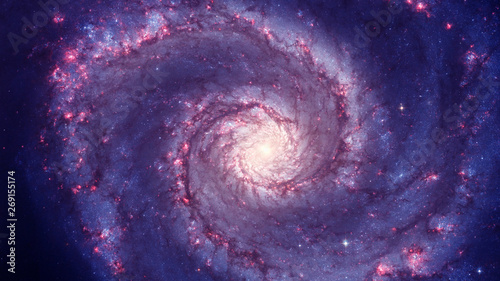 Photo sur Toile Spirale galaxy in space