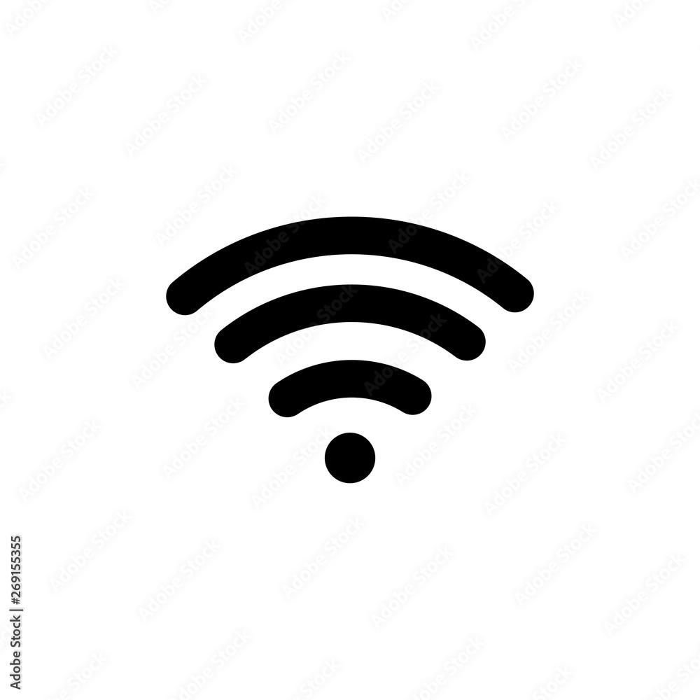 Fototapety, obrazy: Free WiFi Flat Vector Icon