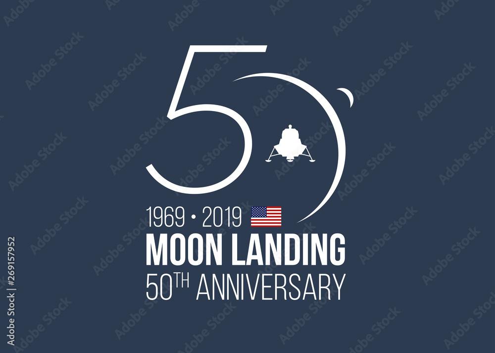 Fototapety, obrazy: MOON LANDING 50th ANNIVERSARY