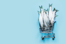 Bluefish In Grocery Trolley On...