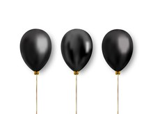Realistic Balloons Of Black Co...