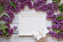 Bordr Of Purple Lilac Flowers ...
